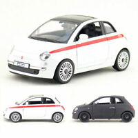 Fiat 500 1:30 Scale Model Car Metal Diecast Gift Toy Vehicle Kids Collection