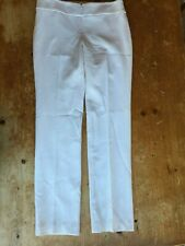 NWT Worth Petites Flannel White Wool Blend Lined Pants Women's Petite Size 6 B37