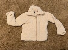 patagonia girls jacket XXS (3-4) white Full Zip Fur