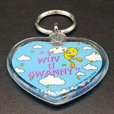Looney Tunes Keychain: Tweety Bird I wuv U Granny NEW