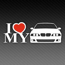 BMW I Love My E39 Sticker 20cm x 8cm M5 Tuning EDM