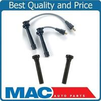Spark Plug (2) Ignition Wires (2) Coil Connectors For 99-02 Tracker 1.6L