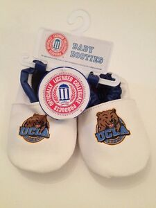 NCAA UCLA Bruins Baby Boy Girl Booties Shoes Soft Sole Size 3 6 9 12 Months