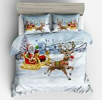 3D Santa Clause Sleigh O364 Christmas Quilt Duvet Cover Xmas Bed Pillowcases Fay