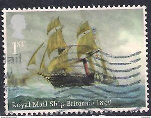 GB 2013 QE2 1st Merchant Navy SG 3520 used stamp ( F1279 )