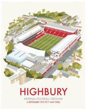 "Highbury Arsenal Football Club Art Deco style Art Print - 14"" Print"