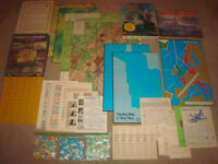 Pickett's Charge + Wooden Ships Iron Men + War at Sea BOARD GAME LOT Avalon Hill