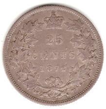 CANADA QUEEN VICTORIA 1872H 25 CENTS