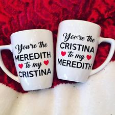 Grey's Anatomy Coffee Mug Set - Meredith & Cristina *Perfect Bestie Gift*