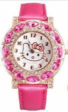 Hello Kitty HOT PINK Wrist Watch Girl Teens Kids Cartoon Quartz Watch
