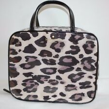 336f9f1446 Kate Spade Crawford Court Minna Zip Travel Cosmetic Makeup Case Leopard  Print