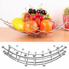 Creative Fruit Basket Bowl Vegetable Rack Stainless Steel Storage Stand Holder