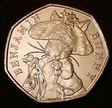 BENJAMIN BUNNY 50p coin Beatrix Potter Tale Peter Rabbit 2017 series fifty pence