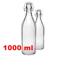 1000ml / 1 Litre Glass Swing-top Bottle wine beer cider for Home