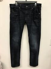 Diesel Industry Denim Men's Thavar-XP Slimy Skinny Leg Dark Blue Denim Sz 32x30