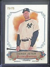 2011 Topps Allen and Ginter RIP Card #RC80 Derek Jeter No 75 of 75