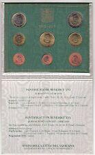 2010 VATICANO set 8 PEZZI FDC pièces EURO PAPA Benedetto XVI Vatikan RATZINGER