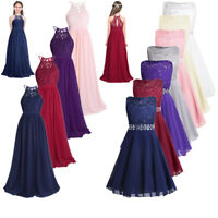 Flower Girl Lace Gown Dress Formal Wedding Bridesmaid Graduation Pageant Dresses
