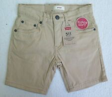 Levi's Little Boys' 511 Sueded Beige Shorts - Size 5 REG - NWT - MSRP$40.00