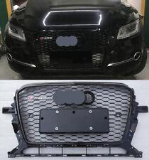 Front Honeycomb Upper Grille For Audi Q5 SQ5 2013-2016 RSQ5 Style+ Black Emblem