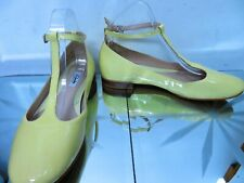 CLARKS Narrative Festival Glee Pale Yellow patent low heel shoes  UK 6D, 39.5
