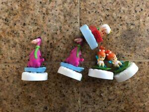 vintage Denny's fast food Flintstones Glacier Glider lot toys