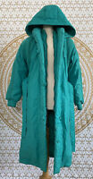 J Gallery Down Vintage Crochet Teal Parka Coat Jacket Size Medium