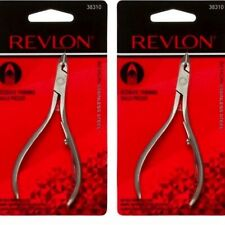 Revlon Cuticle Clipper Nipper, HALF Jaw, Stainless Steel (38310) 2-Pack