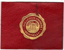 1910 Grinnell College Tobacco Cigarette Leather Bold Gold Seal