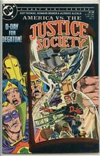 America vs the Justice Society 1985 series # 4 fine comic book