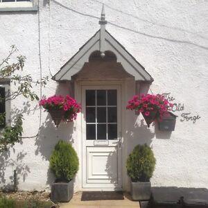 Filcombe - Timber Door Canopies- Wooden front door porch canopy gallows bracket