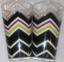 MISSONI for Target Colore Set of 2 LG. TUMBLER Drinking Glasses Zig Zag Design