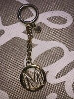 Michael Kors Keyring Key Fob Charm With Crystals Wear And Tear Signs