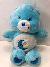 "12"" Care Bear Collection 2002 Blue Bedtime Bear With Moon On Tummy No Tag"