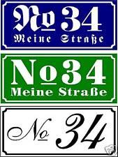 Hausnummer-Schild Acrylglas weiß 330 x 120 x 3 mm Wunschzahl und Text