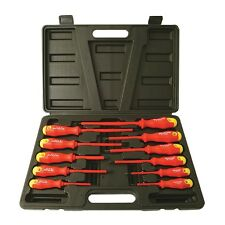 Insulated screwdriver set, 11 electrical screwdrivers