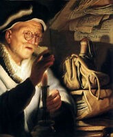 Perfect Oil painting Rembrandt - Parable Of The Rich Man, Berlin - man portrait