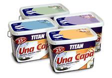 001X713339 PINTURA PLASTICA UNA CAPA  *** TITAN *** 750 ml ...MATE BLANCO