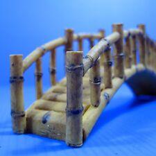 "Bamboo Bridge (L) resin Aquarium OrnamentDecor 6.77""x1.5""x 2.36"" cones cave pet"