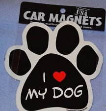 "Car Magnet ""I Love My Dog"" For Dog Lovers"