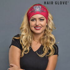 Hair Glove® EZ Bandz® Sugar Skull w/Guns & Studs on Red 50058 Headband
