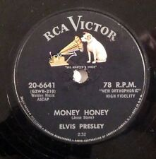 rockabilly 78 RPM ELVIS PRESLEY Money Honey RCA HEAR VG+ One Sided Love Affair