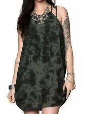 NWT WOMENS METAL MULISHA SHARP SHOOTER OLIVE TIE-DYE STRAP DETAIL DRESS L LARGE
