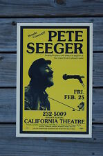 Pete Seeger Concert Tour Poster California Theatre 60s