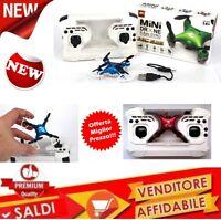 Minidrone MINI drone tascabile quadricottero PORTATILE RADIOCOMANDATO LED USB