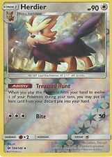 POKEMON SUN & MOON CARD: HERDIER - 104/149 - REVERSE HOLO