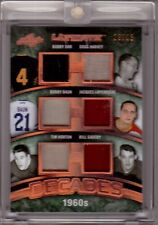 BOBBY ORR TIM HORTON BAUN HARVEY GADSBY 16/17 Leaf Ultimate 1960s Jersey #/15 SP