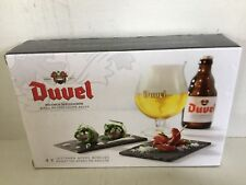 DUVEL - Brewery MOORTGAT -  4 apero slate plates NEW & SEALED COLLECTORS ITEM