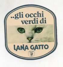 Adesivo LANA GATTO Gli occhi verdi di  Pubblicità advertising SPONSOR F1 sticker
