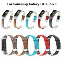 Echtes Leder Armband Uhr Strap Ersatz Für Samsung Galaxy Fit-e R375 Smartwatch